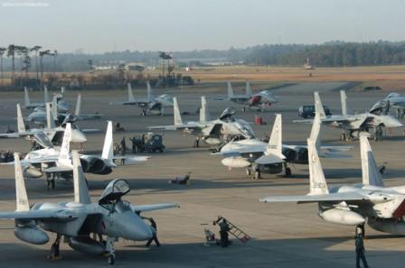 Máy bay chiến đấu F-15J của Nhật Bản.