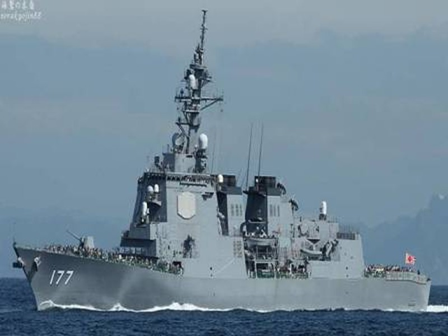 Tàu khu trục tên lửa dẫn đường lớp Atago của Nhật.