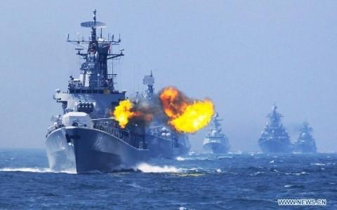 Trung Quốc tiến hành đồng thời 3 cuộc tập trận qui mô lớn trên biển - ảnh 1
