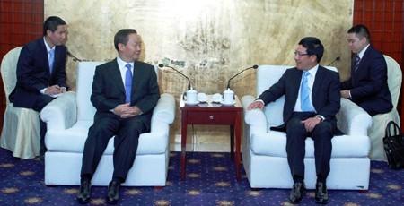 Phó Thủ tướng Phạm Bình Minh gặp Phó Thủ tướng Trung Quốc - ảnh 3