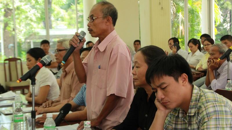 Bộ TN&MT đối thoại với các hộ dân Cồn Dầu - ảnh 1