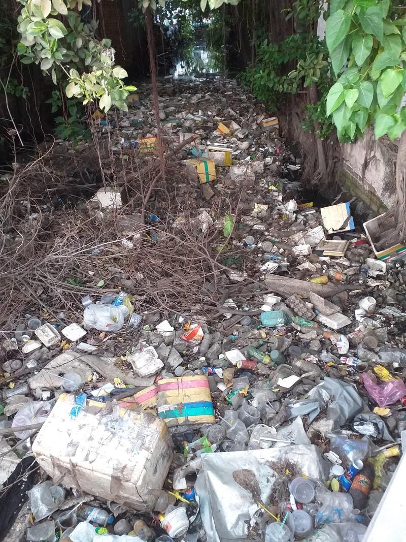 Kinh hoàng rác bẩn trên kênh Rạch Dừa - ảnh 2