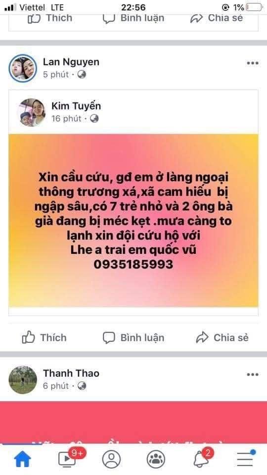 Lũ dâng trong đêm, người dân Quảng Trị lên mạng cầu cứu   - ảnh 3