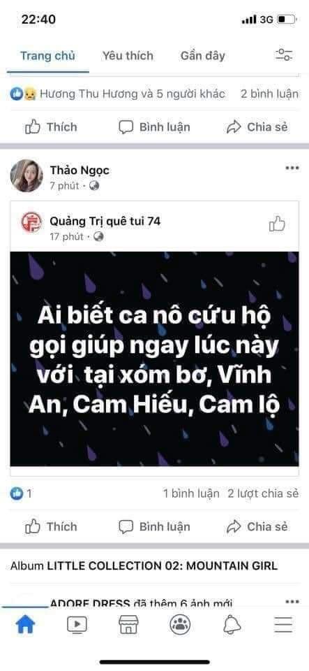 Lũ dâng trong đêm, người dân Quảng Trị lên mạng cầu cứu   - ảnh 6