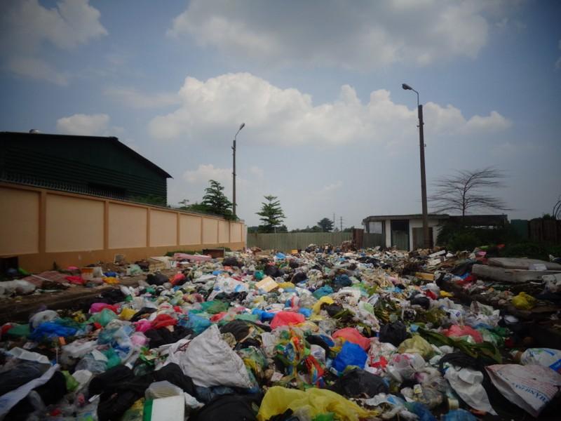 Bãi rác giữa phố quá ô nhiễm! - ảnh 1