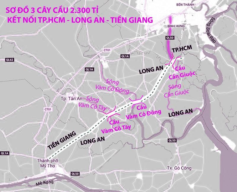 3 cây cầu kết nối Long An với TP.HCM và ĐBSCL - ảnh 1
