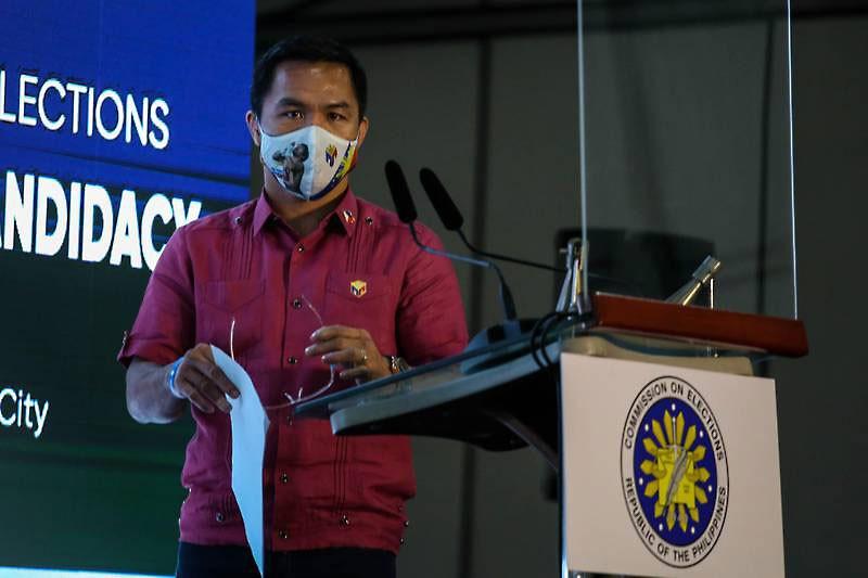 Huyền thoại quyền Anh Pacquiao tranh cử tổng thống Philippines - ảnh 1