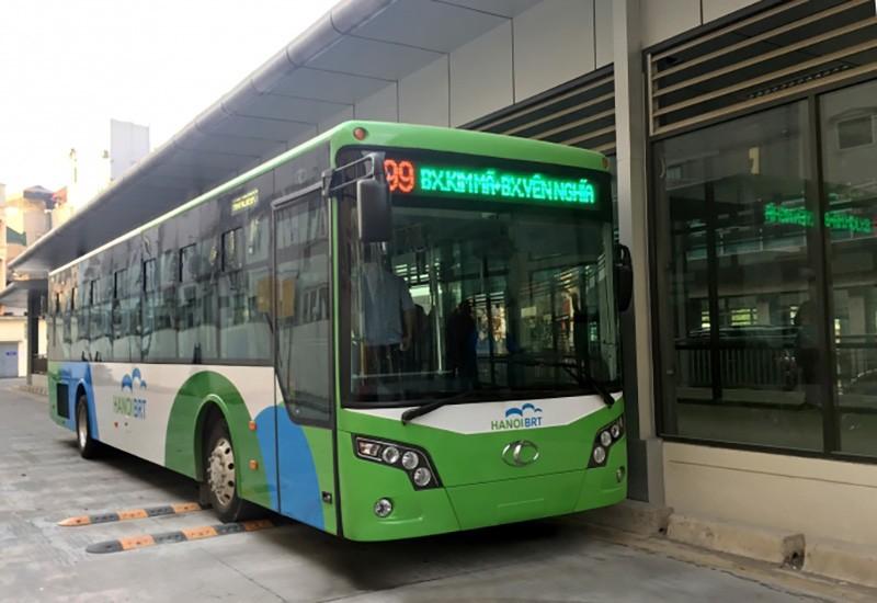 Xe buýt nhanh Hà Nội tiến hành chạy thử nghiệm