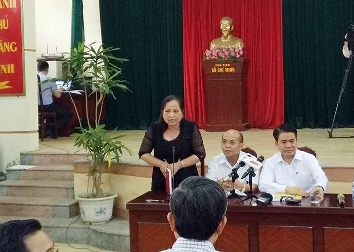 Bãi miễn chức chủ tịch HĐND xã Đồng Tâm của bà Lan - ảnh 1