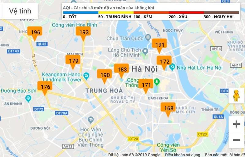Chất lượng không khí toàn Hà Nội đang ở mức báo động  - ảnh 1