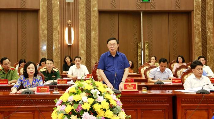 Chủ tịch Quốc hội: Hà Nội cần khai thác tốt quỹ đất sông Hồng - ảnh 1