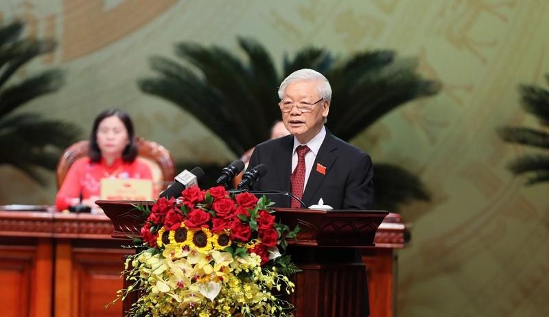 Phát biểu của Tổng Bí thư tại Đại hội Đảng bộ TP Hà Nội - ảnh 1