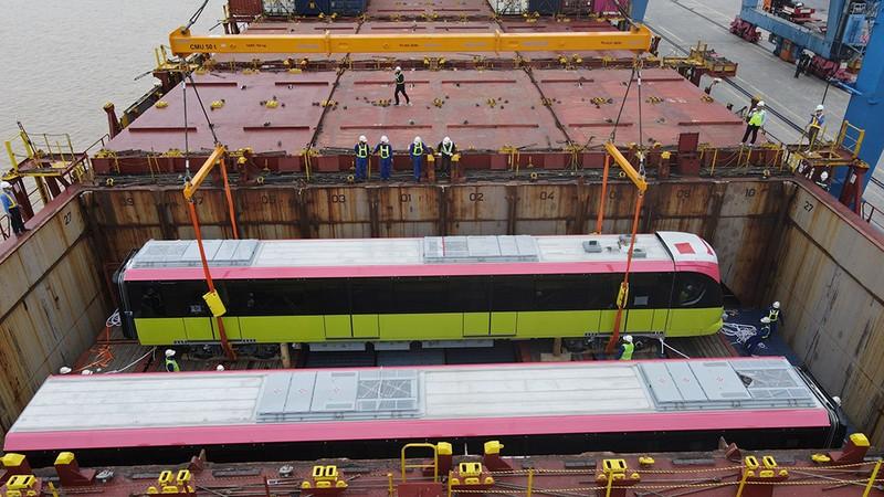 Metro Nhổn - ga Hà Nội sắp vận hành thử toa tầu đầu tiên - ảnh 1