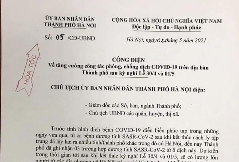 Người về Hà Nội sau dịp nghỉ lễ bắt buộc phải khai báo y tế - ảnh 1