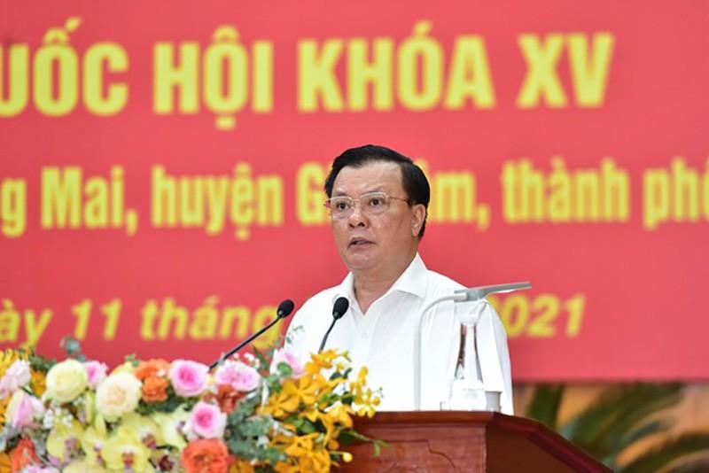 Bí thư Hà Nội cam kết với cử tri về chống dịch COVID-19 - ảnh 1