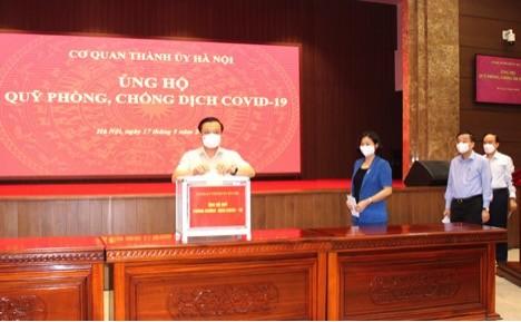 Hà Nội kêu gọi ủng hộ Quỹ phòng, chống dịch COVID-19  - ảnh 1