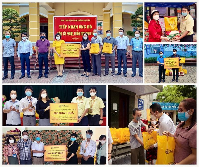 T&T trao 3.000 suất quà cho người dân Hà Nội gặp khó khăn trong đại dịch - ảnh 1