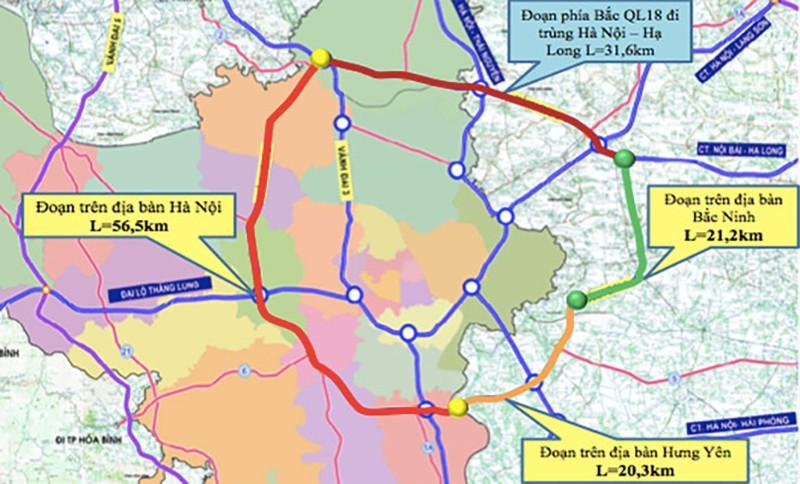 Dự án đường vành đai 4: Tạo thêm động lực cho Hà Nội và vùng lân cận - ảnh 1