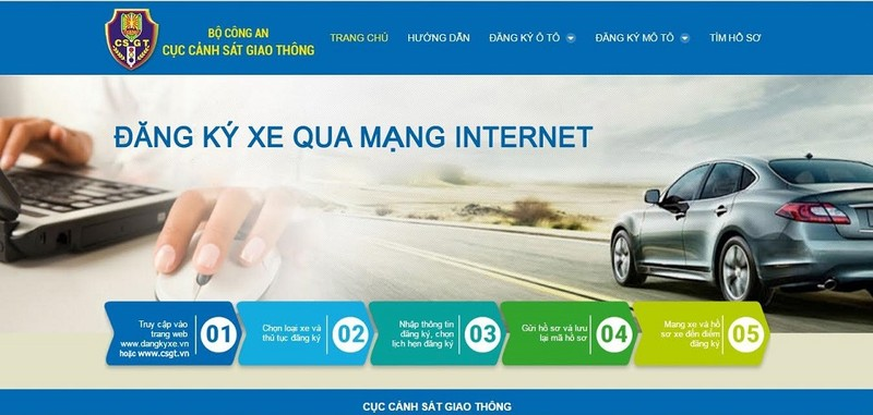 Thí điểm đăng ký xe trực tuyến tại Hà Nội và TP.HCM - ảnh 1