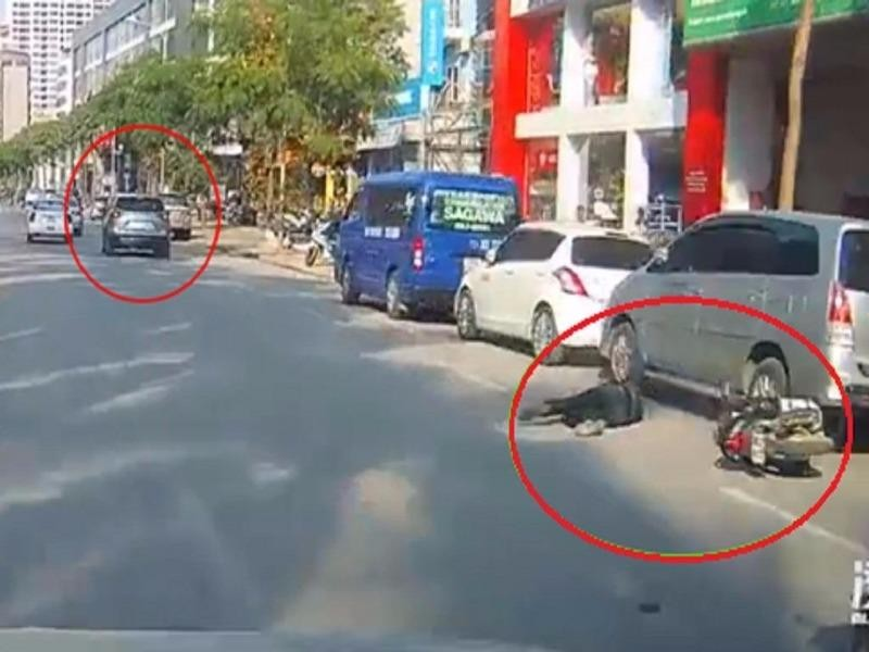 Công an xác định tài xế nghi cố tình tông xe máy  - ảnh 1