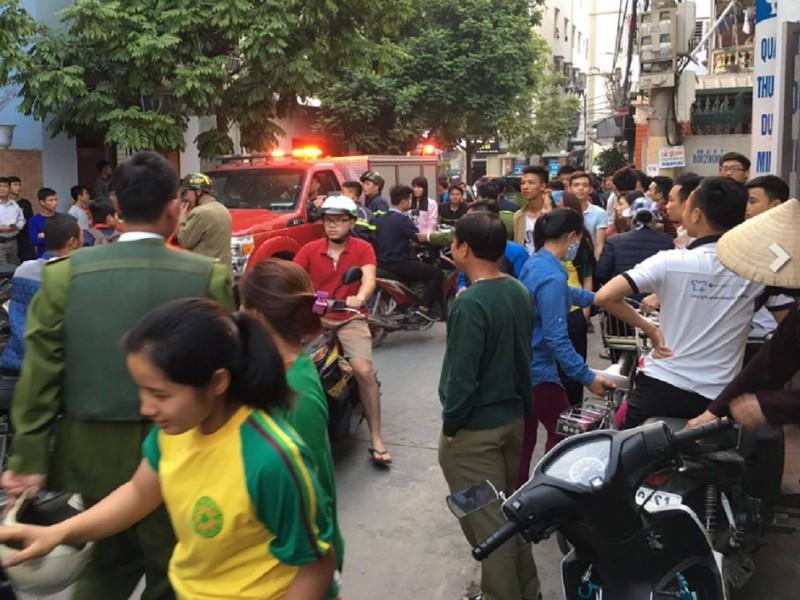 Rất đông lực lượng công an được huy động để giải quyết vụ việc