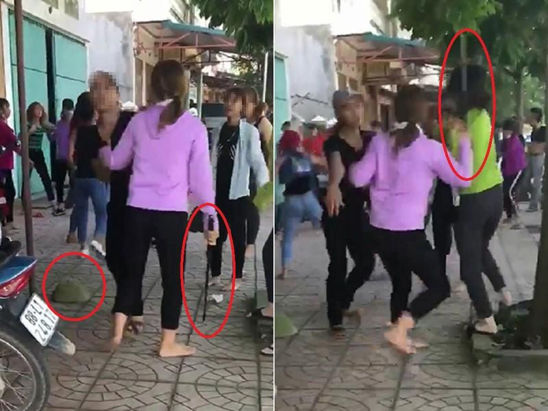 Điều tra 2 nhóm thiếu nữ cầm gậy sắt đánh nhau túi bụi - ảnh 1