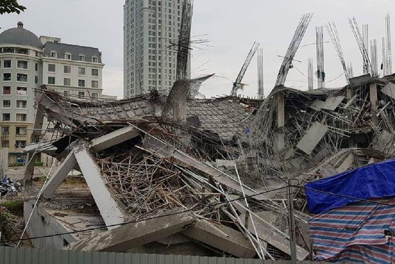 Trường mầm non ở Hà Nội sập khi đang đổ bê tông - ảnh 2