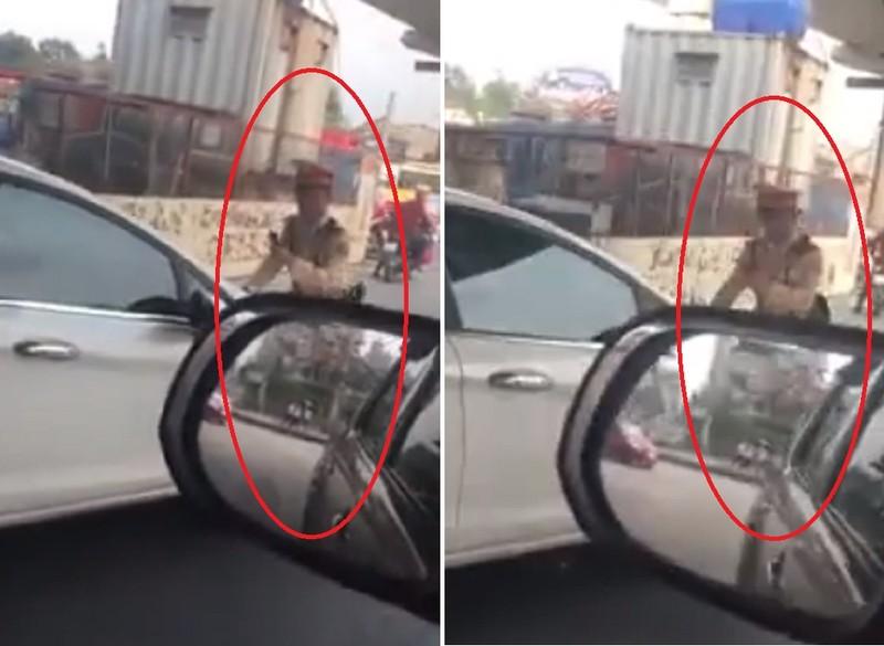 Nữ tài xế vượt đèn đỏ, húc xe thẳng vào CSGT - ảnh 1