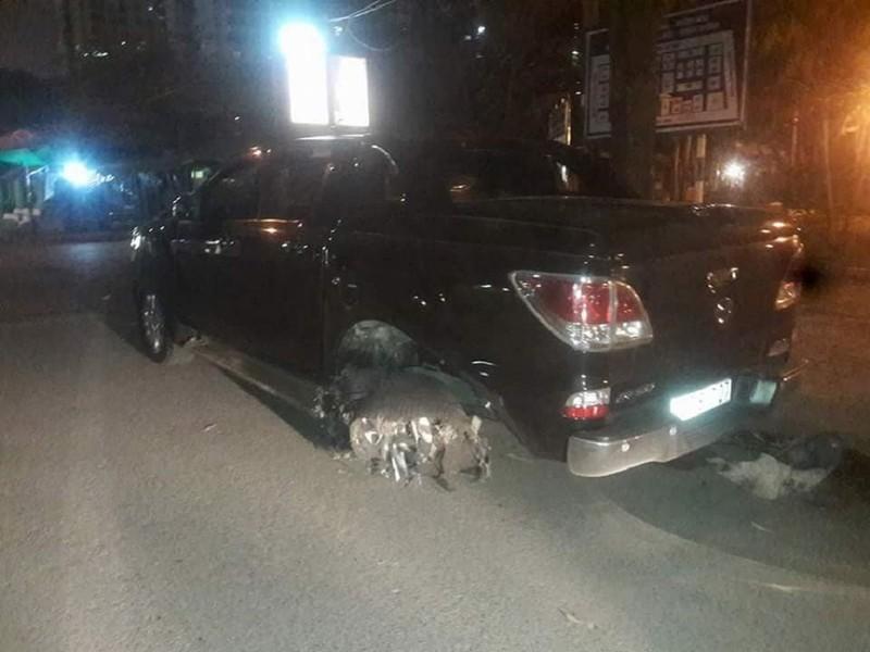 Ô tô tông xe máy, kéo lê nạn nhân trên đường phố Hà Nội - ảnh 2