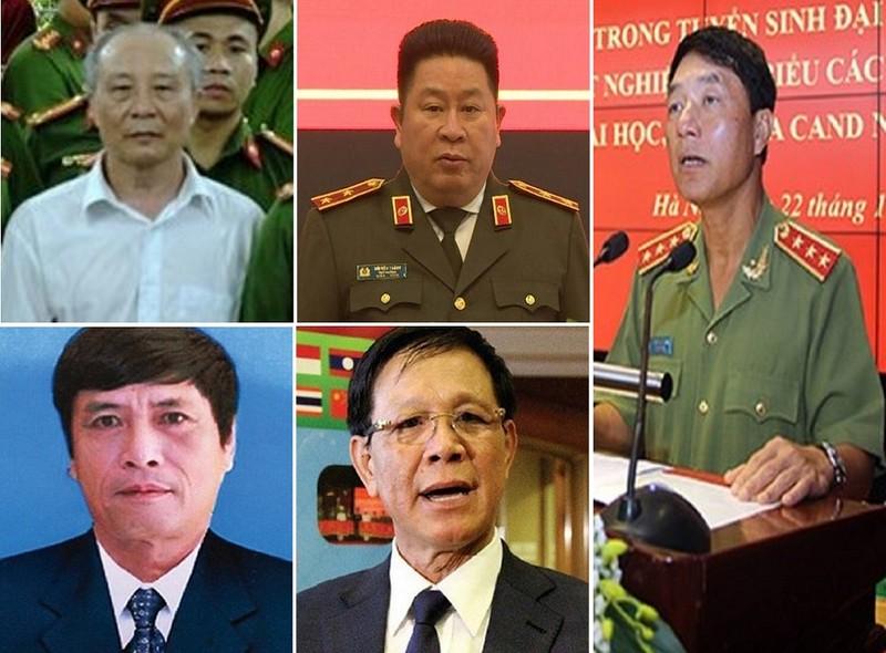 Những tướng công an nào bị bắt, phạt tù trong thời gian qua? - ảnh 1