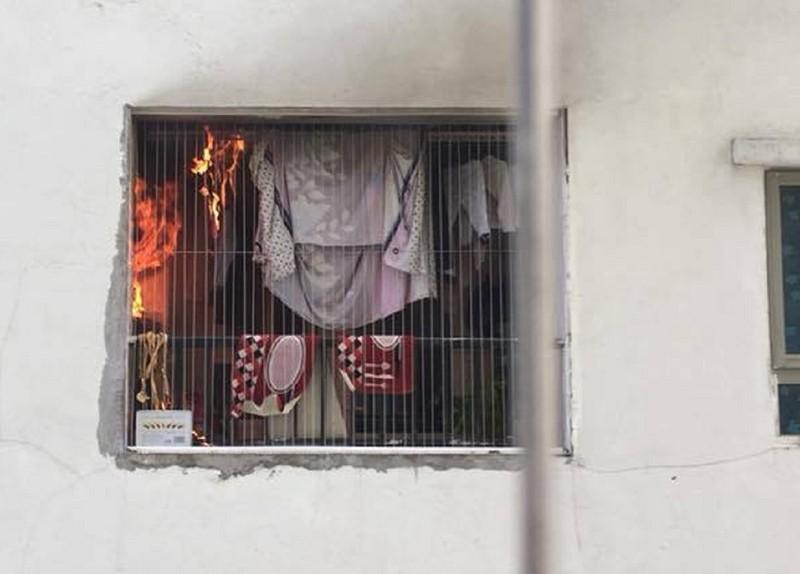 Cháy căn hộ tầng 31 ở khu đô thị Linh Đàm - ảnh 1