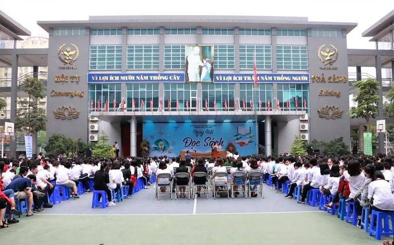 Hơn 1.000 học sinh háo hức đón ngày hội đọc sách - ảnh 1