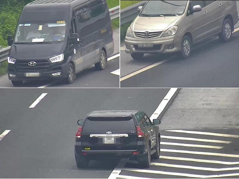 Chỉ trong buổi sáng, 3 ô tô chạy lùi trên cao tốc - ảnh 1