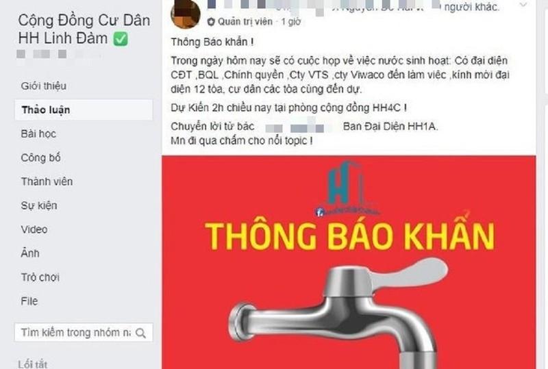 Dân Hà Nội đồng loạt lên Facebook than nước có mùi lạ - ảnh 2