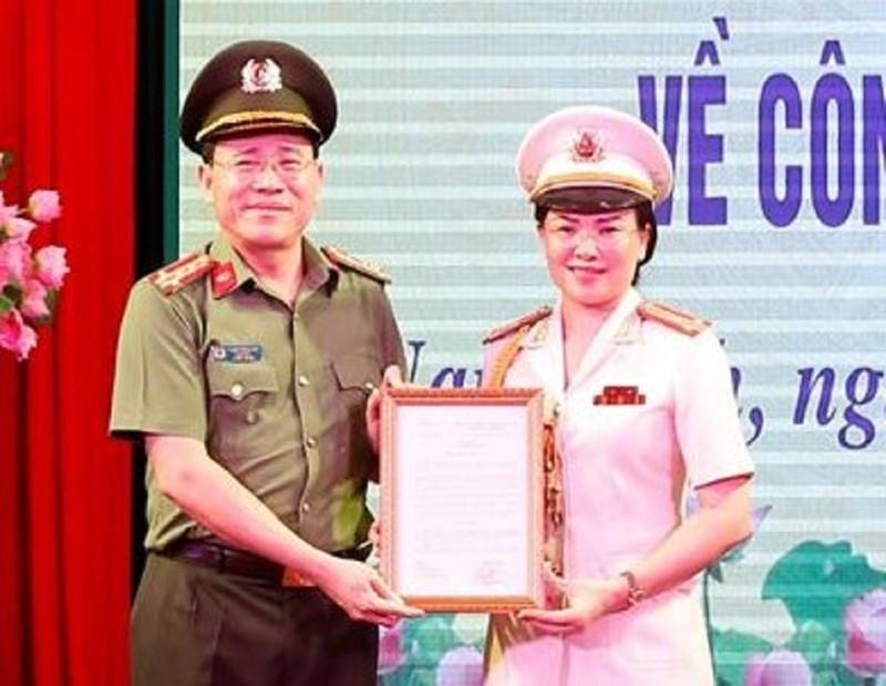 Công an tỉnh Nam Định có nữ Phó giám đốc  - ảnh 1