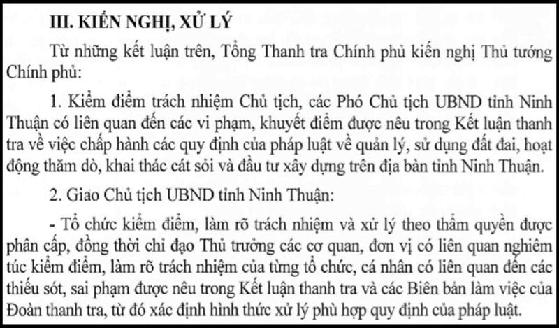 Thanh tra kiến nghị Thủ tướng kiểm điểm lãnh đạo Ninh Thuận - ảnh 2