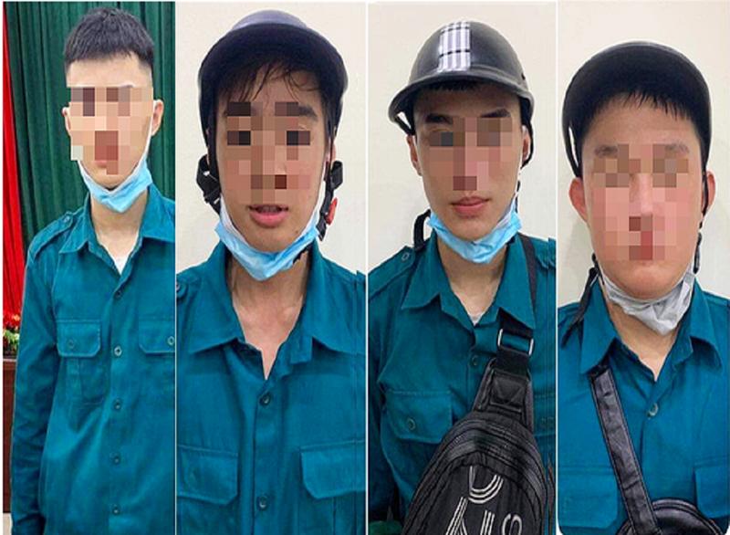 6 thiếu niên giả dân quân tự vệ trấn lột tiền người đi đường - ảnh 1
