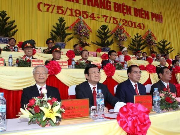 Lãnh đạo Đảng, Nhà nước dự kỷ niệm Chiến thắng Điện Biên Phủ - ảnh 1