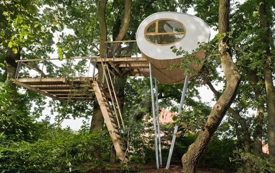 Độc đáo ngôi nhà trên cây có chức năng xả stress - ảnh 2