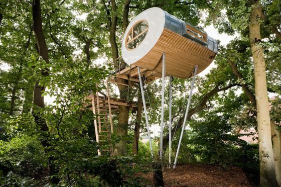 Độc đáo ngôi nhà trên cây có chức năng xả stress - ảnh 8