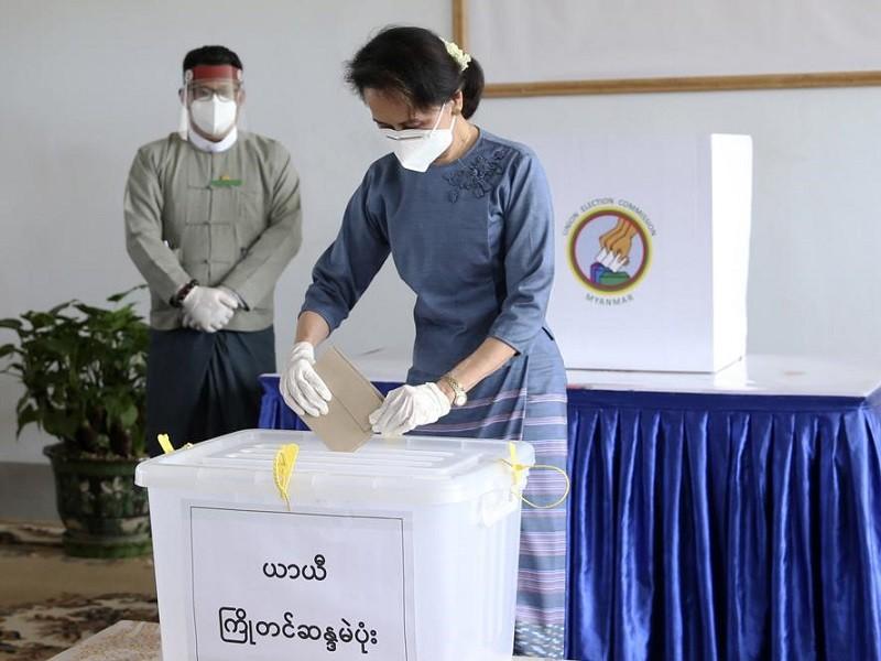 Chính quyền quân sự Myanmar hủy kết quả bầu cử, nói hơn 11 triệu phiếu gian lận - ảnh 1