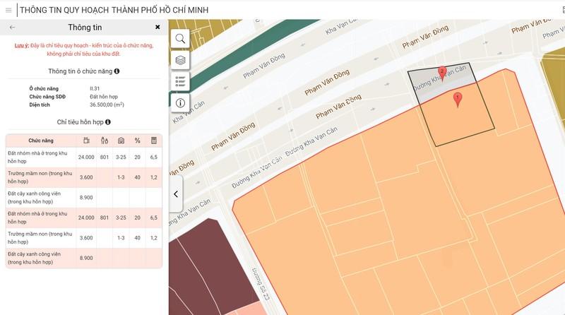 Sở QH-KT TP.HCM nâng cấp ứng dụng thông tin quy hoạch - ảnh 1