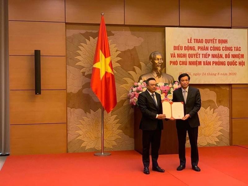 Ông Trần Sỹ Thanh giữ chức Phó Chủ nhiệm Văn phòng Quốc hội - ảnh 1