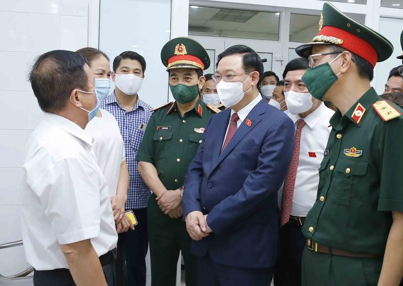 Chủ tịch Quốc hội yêu cầu đẩy nhanh tiến độ sản xuất vaccine Nanocovax - ảnh 1