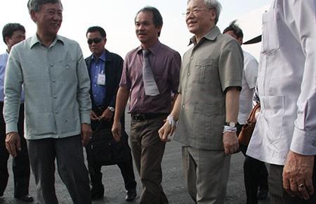Tổng Bí thư Nguyễn Phú Trọng thăm dự án HAGL tại Lào - ảnh 1