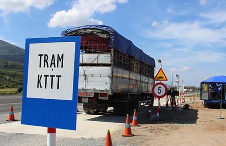 Vận hành trạm cân lưu động tại Ninh Thuận  - ảnh 1
