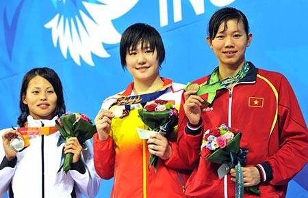 Asiad 17-2014: Ánh Viên đoạt HCĐ 400 m hỗn hợp - ảnh 1