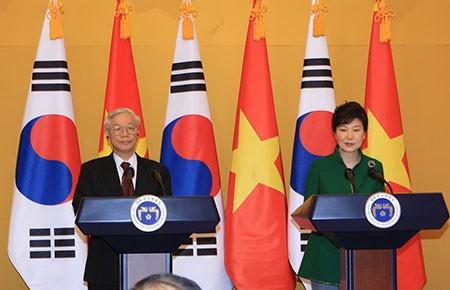 Nâng tầm quan hệ hợp tác Việt Nam-Hàn Quốc - ảnh 1