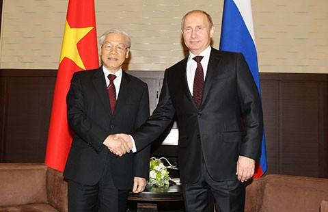 Tổng Bí thư Nguyễn Phú Trọng hội đàm với Tổng thống Nga Putin - ảnh 1