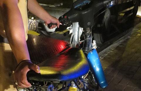 Tạm giữ 70 xe máy đua xe, lạng lách tại lễ hội Dinh Cô - ảnh 1